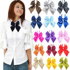 Внешний вид - Chic Women Student Bow Tie Fashion Ladies Girl Satin Novelty BIG Bow Tie Wedding