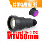 1/3'' 50mm Lens 6.7 Degree M12 CCTV MTV Board IR Lens for Security CCTV Cameras