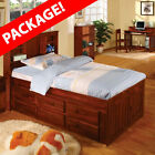Discovery World Furniture TWO Merlot Bookcase Captains Twin Bed Includes Nightst