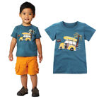 Toddler Kids Baby Boys Clothes Short Sleeve Cartoon Printing Tops T-Shirt Blouse