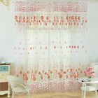 Multi Types Voile Window Curtain Tulle Panel Floral Drapes Room Door Divider