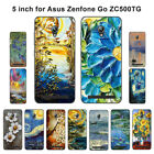 Soft TPU Silicone Case For Asus Zenfone GO ZC500TG Phone Back Cover Skins Retro