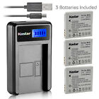 Kastar Battery LCD Charger for Canon NB-4L NB-4LH & PowerShot TX1 IXY Digital 10