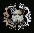 Star Wars Storm Trooper hair bow headband black white clip barrette toddler $9.99 USD
