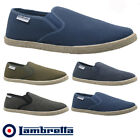 MENS LAMBRETTA SLIP ON TRAINERS CASUAL CANVAS SKATES PUMPS SHOES PLIMSOLLS SIZE