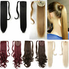 Thick Ponytail Clip in as Remy Hair Extension Pony tail Wrap Around Hairpiece US