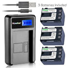 Kastar Battery LCD Charger for Canon NB-2L12 NB-2LH & Canon Optura 30 Optura 40