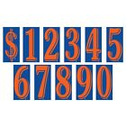 8 1/2 Inch Orange & Blue Numbers Windshield Pricing Stickers Car Dealer YouPick