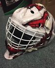 Bauer S17 NME 4 Wall Ice Hockey JR Goalie Mask! Helmet Red Blue Junior NME4
