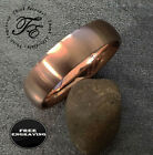 Personalized Engraved Rose Gold IP Stainless Womens Wedding or Promise Band Ring
