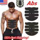*ABS Abdomen Muscle Stimulator Training Belt Electrical Body Building Fitness CA image