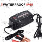 Waterproof Car Battery Charger Lead Acid 5A 12V Smart Kit Automatic AGM/GEL/WET