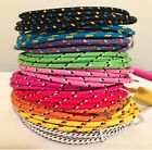 High Quality Braided Colorful USB Cable Charger Sync Cord for iPhone 8 lot 1b