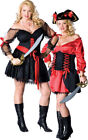 SEXY PIRATE WENCH PLUS SIZE WOMENS ADULT LADIES FANCY DRESS HALLOWEEN COSTUME