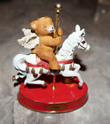 Angel Bear Birthday Carousel Birthstone Figurine -July, August, or September