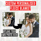 UPLOAD YOUR OWN PHOTO IMAGE PERSONALISED CUSTOM SOFT FLEECE BLANKET BED THROW