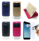 """UK Leather Book Case Cover Support Window w/o Flap Samsung Galaxy S9 Plus 6.2"""""""