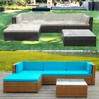 5PC Patio Sofa Furniture Garden Outdoor Rattan Poolside Yard Sectional Set L0A0