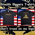 Stealth Diggers metal detecting Don't tread on me black t shirt Classic log LFOD