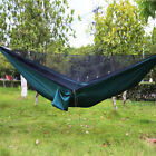 Portable Outdoor Camping Automatic Mosquito Net Nylon Hammock Hanging Bed Swing