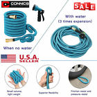 Deluxe 25 50 75 100 150 Ft Expandable Flexible Garden Water Hose Spray Nozzle