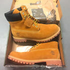 NEW MEN'S TIMBERLAND BOOTS 6 INCH PREMIUM WATERPROOF 10061 WHEAT NUBUCK