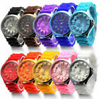 Colorful Unisex Men Women Silicone Jelly Quartz Analog Sports Wrist Watch New image