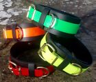 "BC17 Handmade Biothane® Dog Collar 2.5"" wide Lurcher/Greyhound/Bull Cross 15-20"""