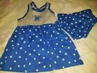 NCAA Memphis Tigers Rivalry Threads 91 Toddler Girls 2pc Dress Set New With Tags