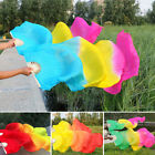 Tie dyed Belly Right Hand Dance Fan Veils For Women Long Silk Fan Bamboo Fans