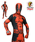 Official Deadpool Delux Marvel Comics Digital Morphsuit Fancy Dress Costume