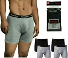 6 Pack Mens Boxer Briefs 100% Cotton Black Gray Underwear Lot S M L XL XXL XXXL