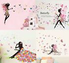 Angel Flower Girl Butterfly Flower Fairy Wall Stickers For Room Decoration