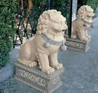Outdoor Foo Dog Statues Lawn and Garden Decor Sculptures Chinese Animal Resin