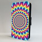 Mind Optical Illusion Hippie Colourful FLIP PHONE CASE COVER for IPHONE SAMSUNG