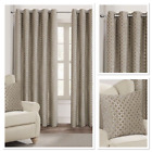 Rapport Palermo Natural Fully Lined Eyelet Curtains 4 Sizes