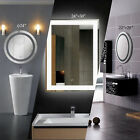 lighted vanity mirrors for bathroom - hot LED Bathroom Lighted Vanity Wall Mirror for Make up w/ Touch Button