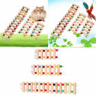 US Parrot Hamster Wooden Ladder Climbing Pet Bird Cage Swing Stand Play Toy SML