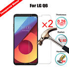 2Pcs Real Clear Tempered Glass Screen Protector For LG V30/Q6 Q6 plus/ K8V VS500