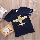 Baby Kids Cartoon Plane Top T-shirt Tee Cotton