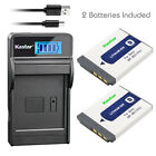 Kastar Battery LCD Charger for Sony NP-BD1 BC-CSD & Sony DSC-T300 Digital Camera