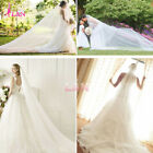 Bride Bridal Wedding Veil 3M New White Ivory Cathedral Tulle Dress Double Layer