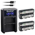 Kastar Battery LCD Dual Charger for Sony NP-F550 NP-F570 Sony BC-VM50 BC-V615