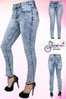 Women's Ladies Skinny Sexy Slim Girl Fit Mid Rise Stretch Denim Blue Wash Jeans