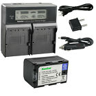 Kastar Battery LCD Dual Fast Charger for JVC SSL-JVC50 JVC GY-HM200SP Camcorder