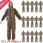 1-100 X Leaf Ghillie Suit Camo Camouflage Clothing 3D jungle Hunting L/XL LOT MY