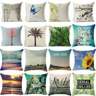 "18"" Fashion Natural Linen Cotton Throw Pillow Case Cushion Cover Home Sofa Decor image"