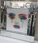 Murciano multi-coloured crying eyes with crystals, shimmer & white glass frame