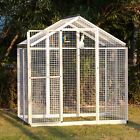 6'x4' Large Iron Bird Cage Walk In Pet House Aviary Parrot, w/One Door