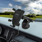 Qi Wireless Charger Car Charging Phone Mount Holder For iPhone XS XR Samsung S9+